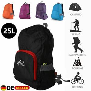 Ultraleicht Faltbarer Rucksack Reise Radfahren Tasche Outdoor Sport Daypack 25L