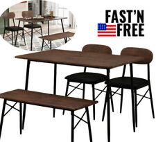 4 Piece Dining Room Tab 00006000 le Set For 4 Farmhouse Wooden Kitchen Tables And Chairs
