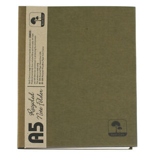 Earth Care A5 100% Recycled Lined Notepad Notebook Folder in Green