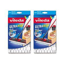 Vileda Ultramax 1-2 spray di ricambio in microfibra Mocio Testa pads: Pack 2