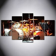 Drum Music Instrument Set 5 panel canvas Wall Art Home Decor Poster Print