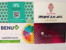Discount Cards Latvia 4 Pcs  * McDonald * Accesorize * Impulss * Benu  * W996