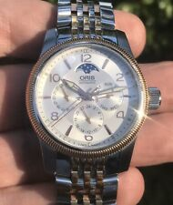 Oris Big Crown Complication Swiss Automatic 40mm Moon Phase Two-Tone Day Date