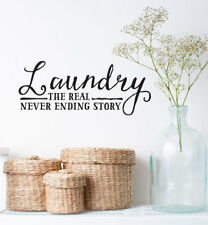 Laundry The Real Wall Sticker Home Quotes Inspirational Love MS027VC