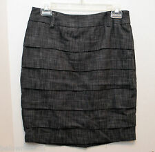 Byer California Layered Pencil Skirt Size 9 Dark Gray with Belt loops Career