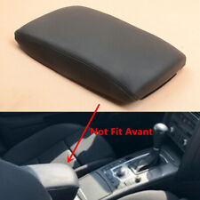 Black Front Console Arm Rest Leather Cover Cap For AUDI A6 C6 4F A6 ALLROAD RS6