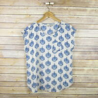 ANN TAYLOR LOFT Petites Women's Sleeveless Printed Polyester Cute Blouse Top SP