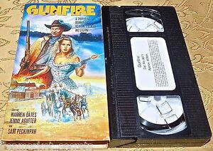 GUNFIRE VHS WARREN OATES JENNY AGUTTER FABIO TESTI COMPLETE IN BOX