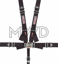 G-Force Black Pro Series 5 Point Shoulder Harness Racing Seat Belts SFI 16.1