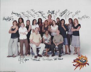 2007 WNBA CONNECTICUT SUN TEAM PHOTO W /FACSIMILE AUTOS - WHALEN DYDEK JONES +++