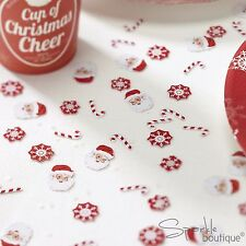 CHRISTMAS TABLE CONFETTI - Father Xmas/Santa/Snowflakes - Scatter - Decorations