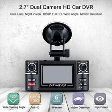 "2.7"" Dual Lens Car Vehicle 1080P HD Dash Camera DVR Cam Night Vision Recorder"