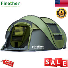 Waterproof All Season 5-6 People Instant Pop Up Family Tent Camping Hiking Tent