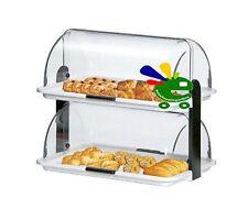 Porta pane dolci brioche vetrinetta a due piani doppia esposizione espositore