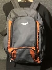 Eddie Bauer Transitional Duffle Travel Gym Bag & Backpack Orange Gray