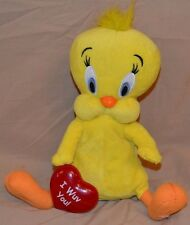 "9"" Tweety Bird Looney Tunes Electronic Interactive Plush Doll Toys I Wuv You!"