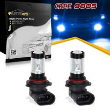 For Dodge 9005 HB3 Blue Led Fog Driving Light Genuine Cree 30W Projector Lens x2