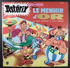 Astérix Le Menhir d'Or Dessins inédits Uderzo Livre Disque Philips 1967 TBE