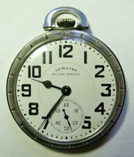 Hamilton 21J 992B Railway Special Railroad Pocket Watch, Adj. Temp & 6 Positions