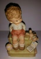 ENESCO Memories of Yesterday Figurine WAITING FOR SANTA #114995 1988