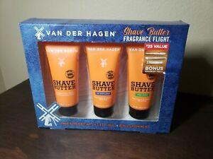 LOT of 3 - 3.4 oz Tubes Van Der Hagen Ultra Moisturizing Blend Shave Butter