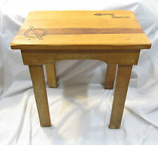 Monterey CA Coronado Mission Arts & Crafts Signed Y.S. Branded Bench Stand 6054