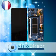 Vitre tactile + écran LCD sur chassis pour Samsung Galaxy Note 8 N950F bleu