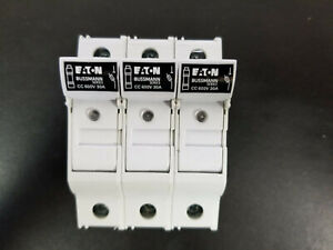 Box of 4 EATON BUSSMANN CHCC3DU Fuse Block,Class CC,30A,3 Pole