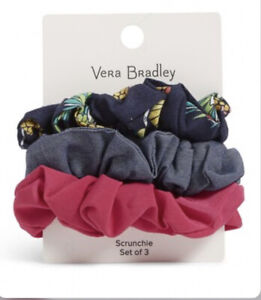 Vera Bradley Scrunchie Set of 3 - Toucan Party New w/Tags