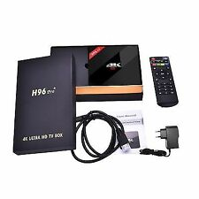 New Tech H96 Pro+ 4K Amlogic Octa Core Android 7.1 TV Box - Black (S912)