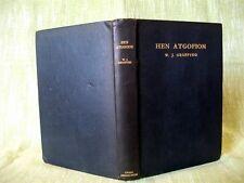 HEN ATGOFION, Blynyddoedd Y Locust; W. J. Gruffydd; 1st edition, 1936; Welsh