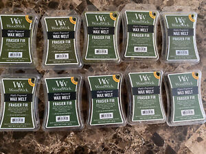 WOODWICK HIGHLY SCENTED FRASIER FIR WAX MELTS 3 OZ. - LOT OF 10 New