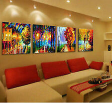 4 pcs Large Modern hand-painted Art Oil Painting Wall Decor canvas(No Frame)