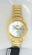 ORIENT 3 Star Automatic Watch Mens Gold tone Watch White Silver dial FEM0401GW9