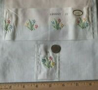 Antique c1920s-1930s Swiss Doll Scale Floral Cotton Embroidery Samples & Designs