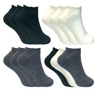 3 Pairs Ladies Mens Thick Insulated Winter Low Cut Thermal Ankle Trainer Socks