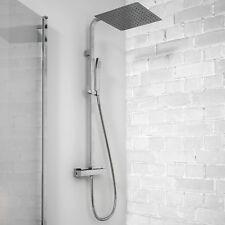 Colonna doccia termostatica Victoria con soffione ultraslim 30x30cm e doccetta