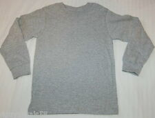 Mens L/S Knit Tee Shirt HEATHER GRAY CREW NECK Fruit of the Loom S 34-36