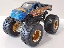 Hot Wheels Monster Jam Beat ese camión 1:64 Base De Metal Firestorm oro Hub Raro