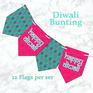 HAPPY DIWALI Bunting Diwali festival banner Colourful Divali Decor decorations