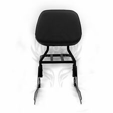 Black Detachable Sissy Bar Backrest & Luggage Rack for Harley FATBOY FLSTF 00-06