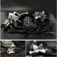 "2.25"" Dual Exhaust Catback Downpipe Cutout E-Cut Valve + Remote +Toggle Control"