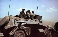 COLOR Photo, WW2 German Sdkfz 247 Armored Car, WWII World War Two Wehrmacht