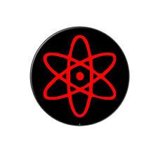 Atomic Symbol Red Black - Metal Tie Tack Hat Lapel Pin Pinback