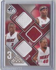09-10 UD Sp Game Used DWYANE WADE /HASLEM /O'NEAL Triple Jersey /125
