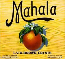 Highgrove Riverside County Mahala Orange Citrus Crate Box Label Art Print