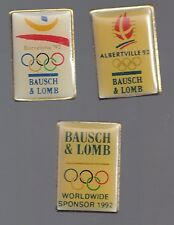 1992 Bausch Lomb Olympic 3 Pin Set In Original Package