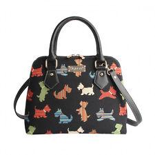 Signare, Damen Tasche, Scottie, Scotch Terrier Hunde Gobelin Schultertasche Bag