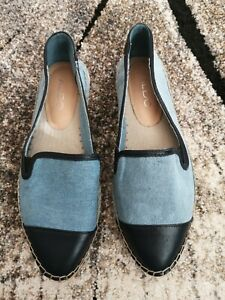 Aldo Women's Ediewiel Espadrilles Blue UK 7 EU 40 worn twice