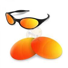 Fit&See Ersatzgläser für Oakley Eye Jacket 1.0 Polarisierte Fire Iridium Linsen